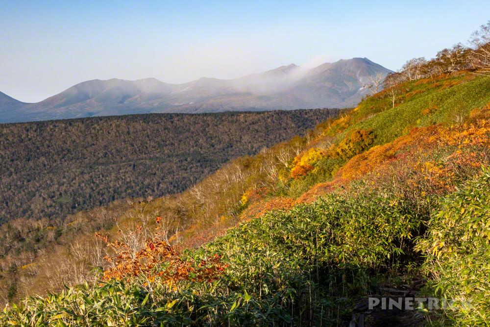 トムラウシ山 大雪山 登山 短縮コース 北海道 紅葉 十勝岳連峰