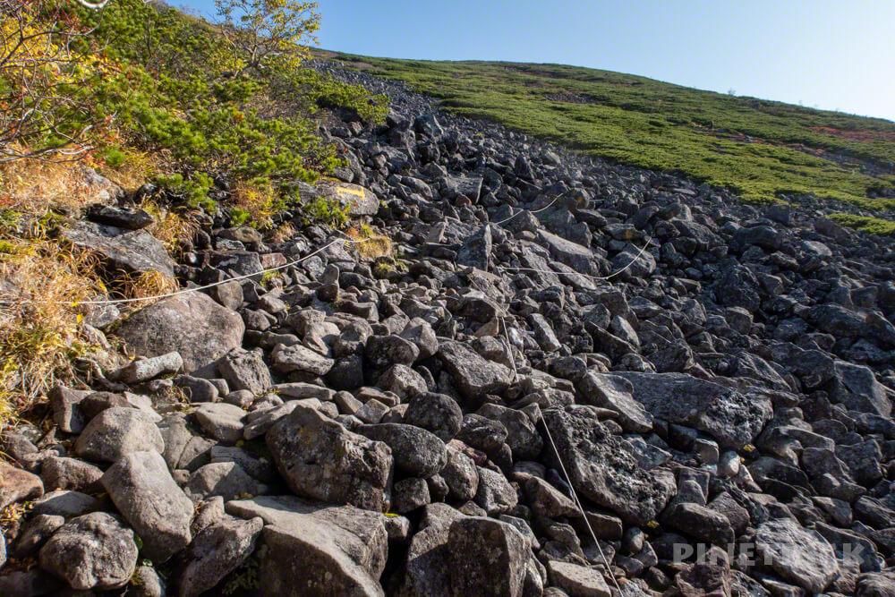 トムラウシ山 大雪山 登山 短縮コース 北海道 紅葉 コマドリ沢  ナキウサギ 岩場