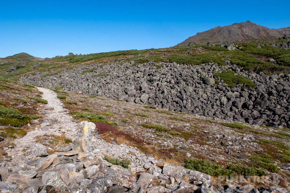 トムラウシ山 大雪山 登山 短縮コース 北海道 紅葉 岩場