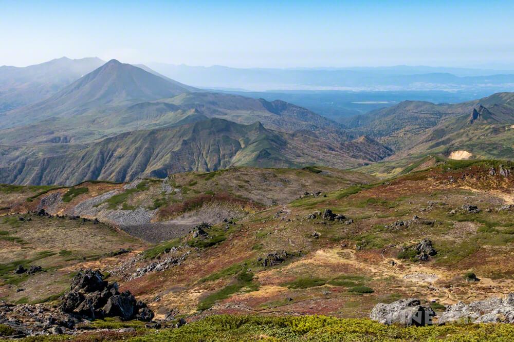 トムラウシ山 大雪山 登山 短縮コース 北海道 紅葉 山頂 オプタテシケ山 南沼 縦走