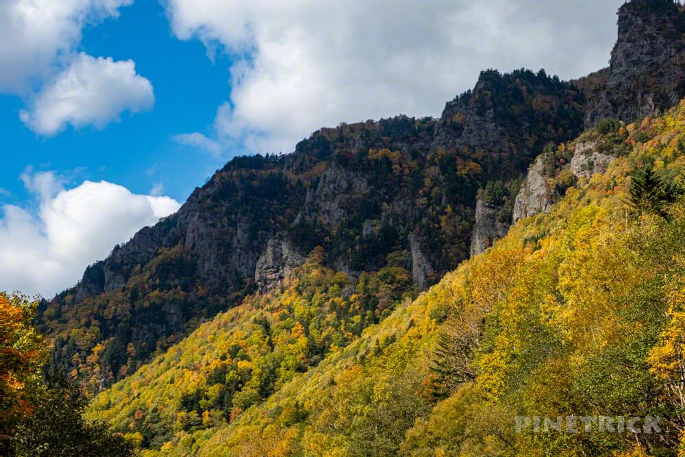北海道 層雲峡 紅葉 絶景 観光名所