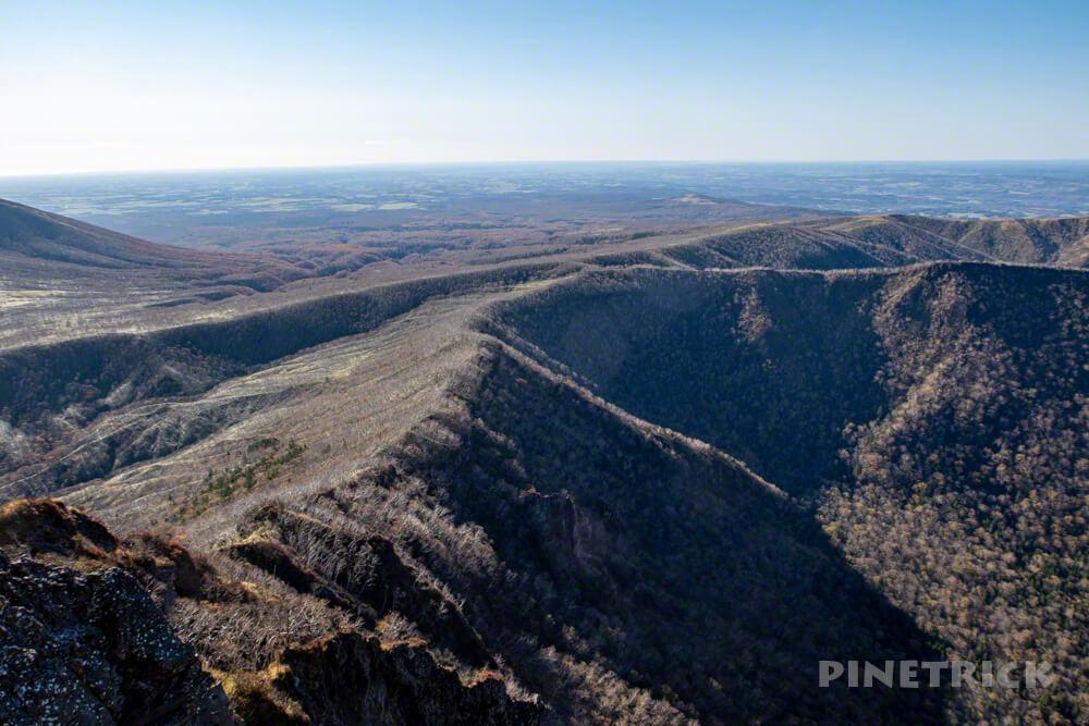 摩周岳 登山 北海道 稜線 分岐 トレッキング