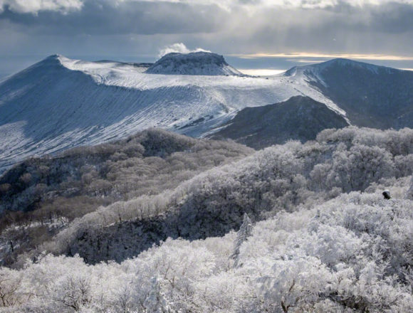 風不死岳 北尾根 登山 北海道 樽前山 樹氷 絶景 溶岩ドーム