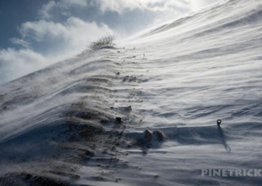 樽前山 爆風 冬山 登山 北海道