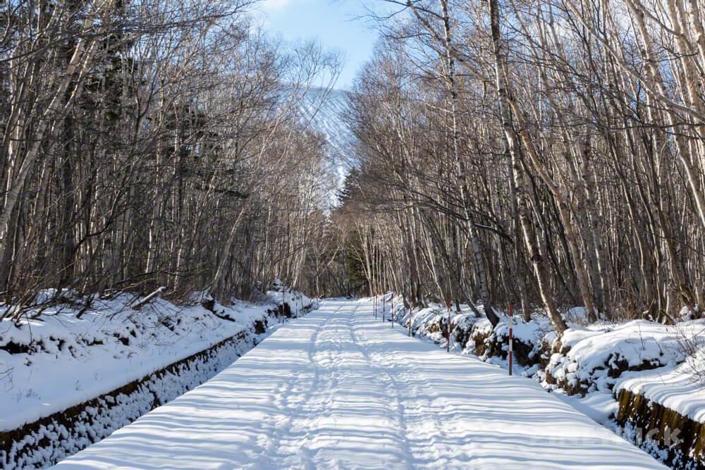 樽前山 登山 冬山 北海道 5合目ゲート