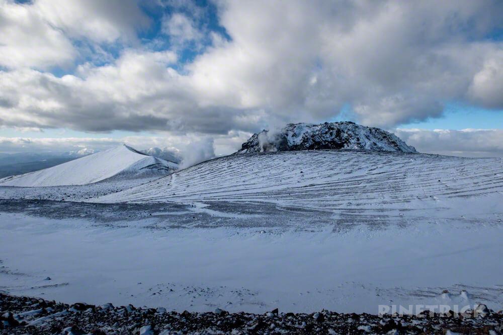 樽前山 溶岩ドーム 西山 噴煙 北海道 冬山 登山