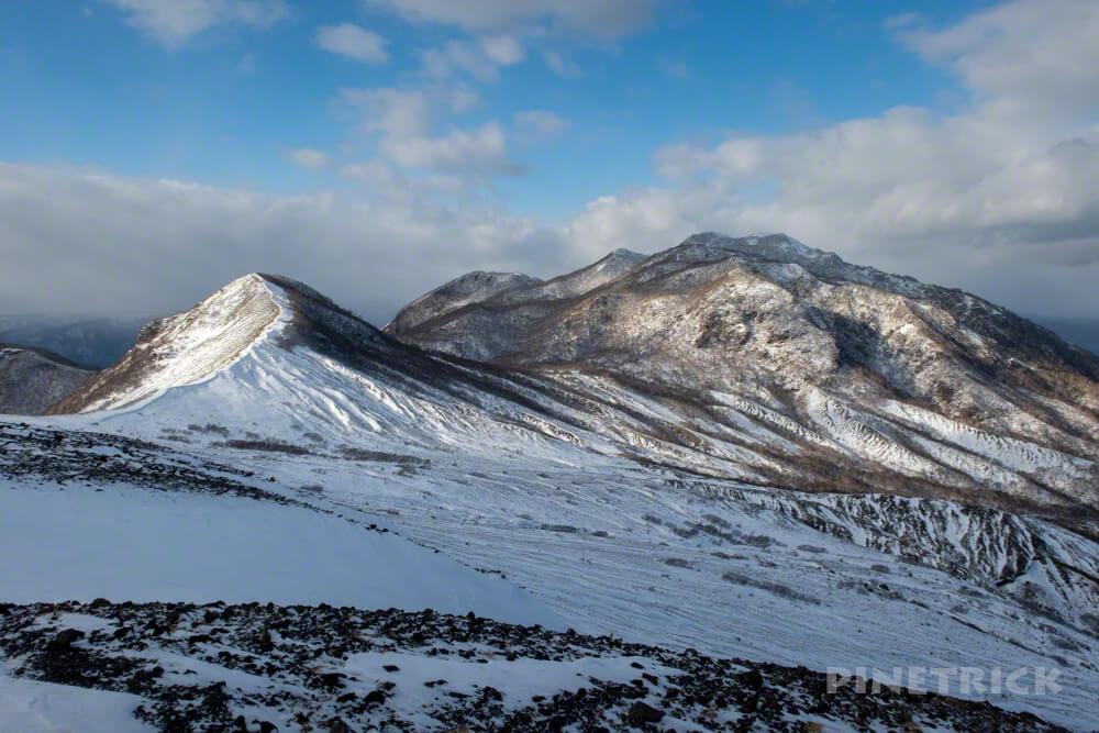 樽前山 932峰 風不死岳 登山 北海道 冬山