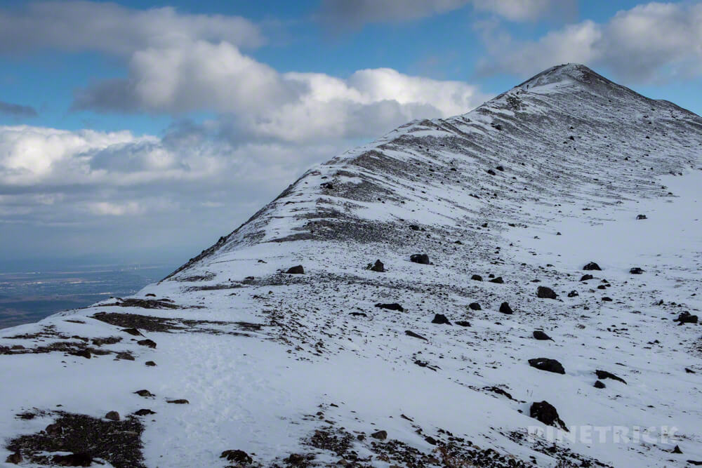樽前山 登山 北海道 冬山