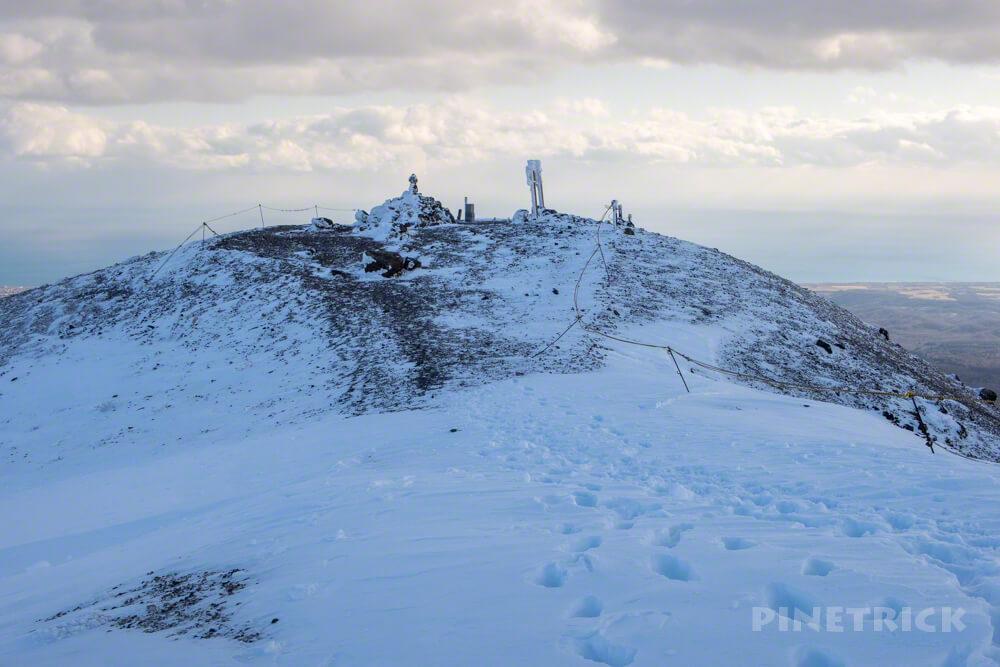 樽前山 登山 北海道 冬山 東山山頂