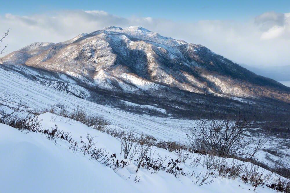 樽前山 登山 冬山 北海道 風不死岳
