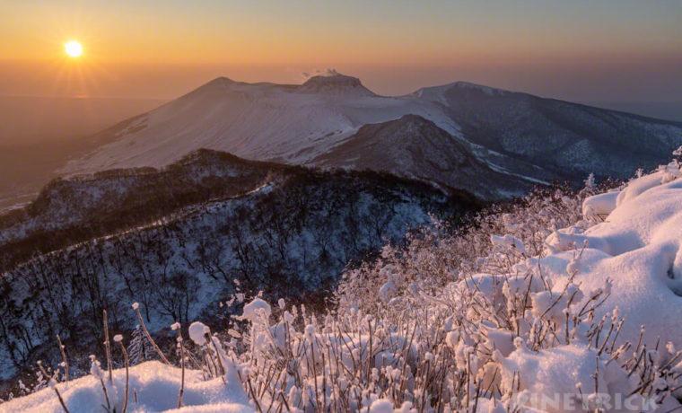 風不死岳 ニセピーク ご来光登山 北海道 樽前山 溶岩ドーム 噴煙