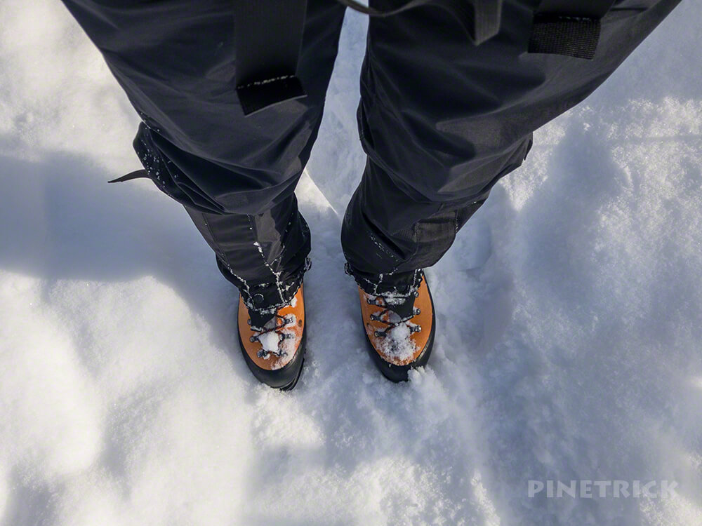 イチャンコッペ 登山 冬靴 北海道 ゲイター
