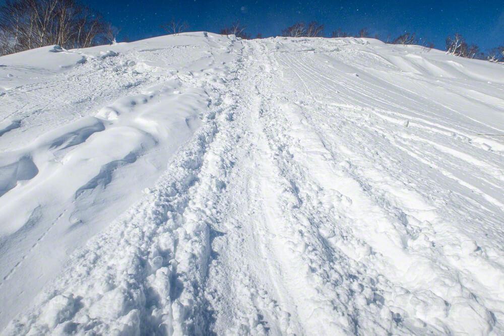 オコタンぺ山 登山 冬山 尻滑り シリセード ソリ