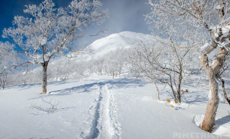 漁岳 登山 北海道 冬山 樹氷