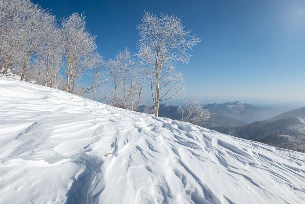 漁岳 林道 冬山 登山 北海道 樹氷