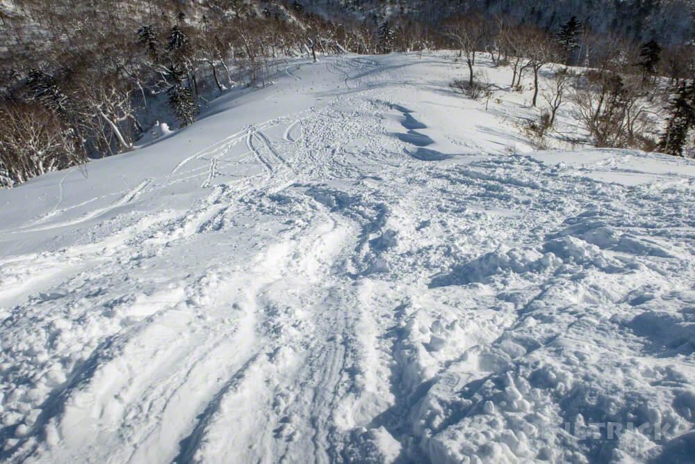 オコタンペ山 冬山 北海道 尻滑り 登山