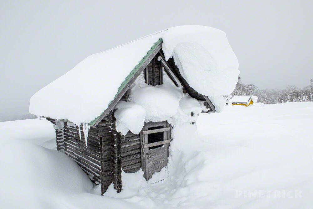 蓬莱山 中山峠 北海道 山スキー 登山 冬山 避難小屋