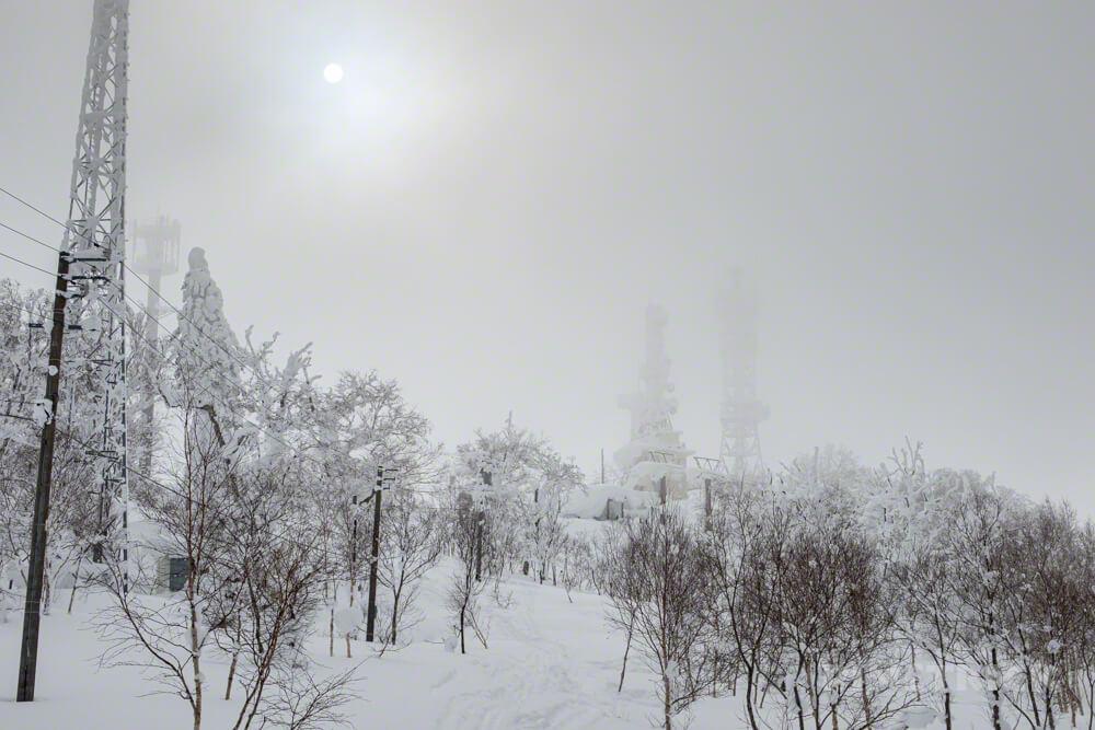 蓬莱山 中山峠 北海道 山スキー 登山 冬山 電波塔
