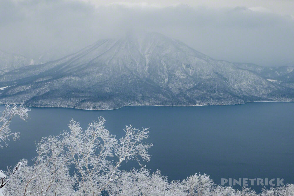 風不死岳 北尾根 冬山 北海道 登山 樹氷 恵庭岳