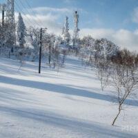 蓬莱山 中山峠 冬山 登山 北海道 電波塔