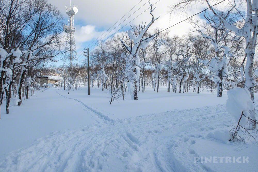 蓬莱山 中山峠 冬山 登山 北海道