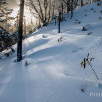 堀平山 登山 北海道 冬山 サンセット登山