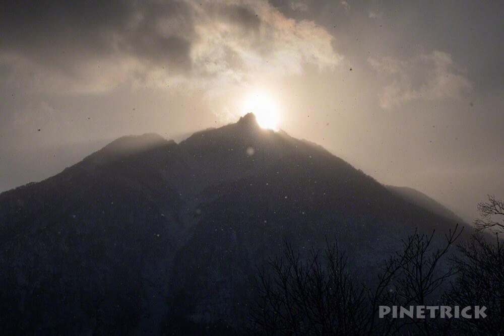 堀平山 登山 北海道 冬山 サンセット登山 恵庭岳 夕日