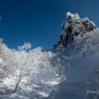 恵庭岳 山頂 本峰 登山 北海道 冬山