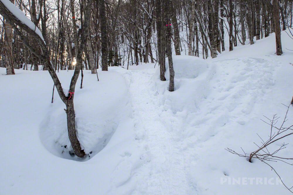 恵庭岳 北海道 登山 冬山 取付き