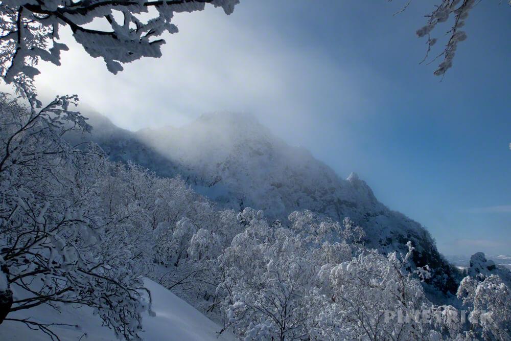 恵庭岳 北海道 登山 冬山 西峰