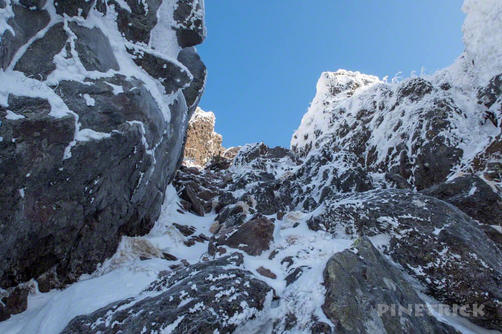 恵庭岳 北海道 登山 冬山 山頂 本峰