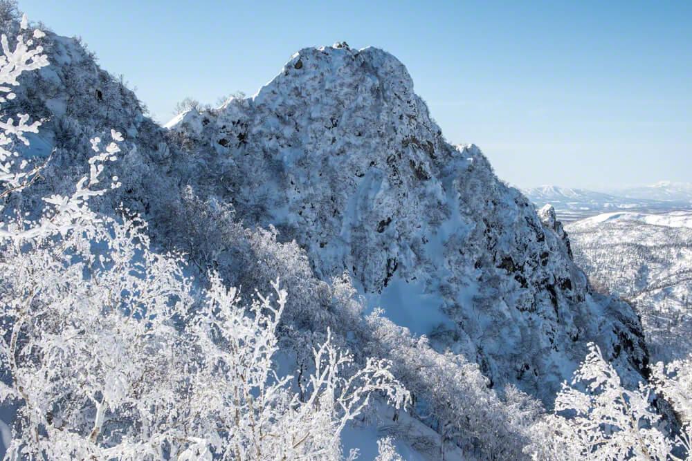 恵庭岳 西峰 登山 北海道 冬山
