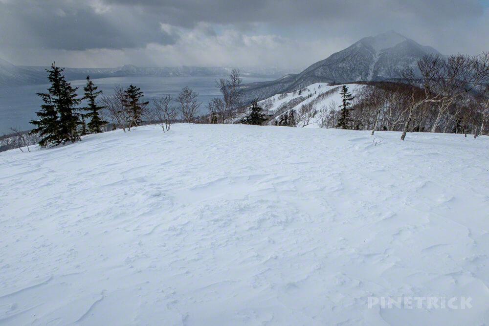 イチャンコッペ山 支笏湖 登山 冬山