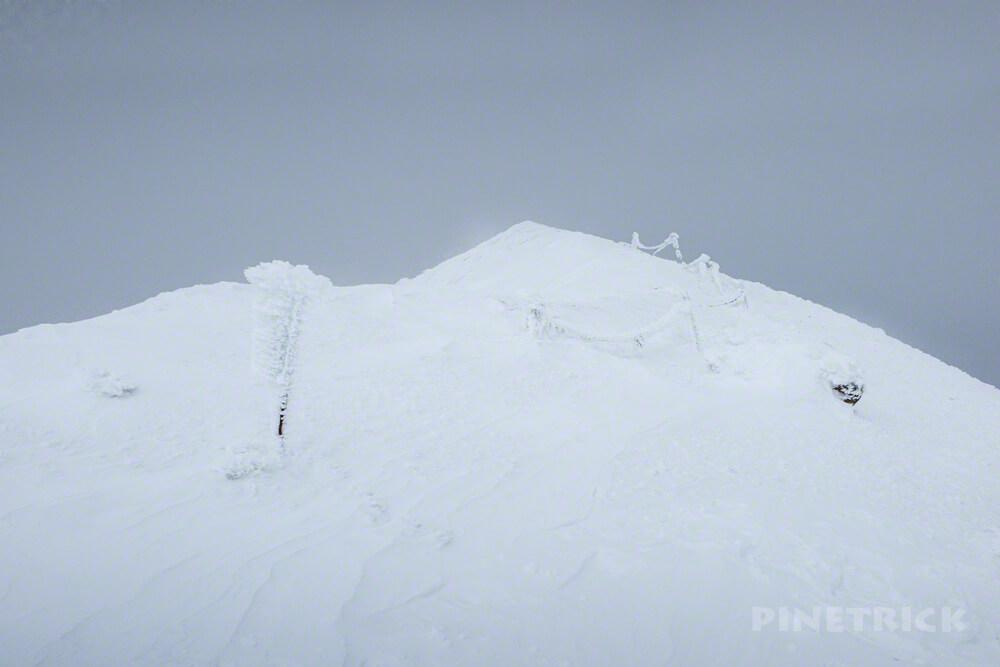 雌阿寒岳 登山 冬山 北海道 山頂