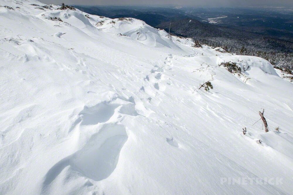 雌阿寒岳 登山 冬山 北海道