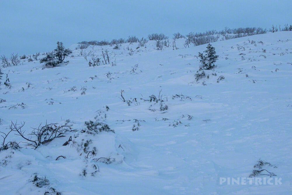 藻琴山 登山 北海道 冬山
