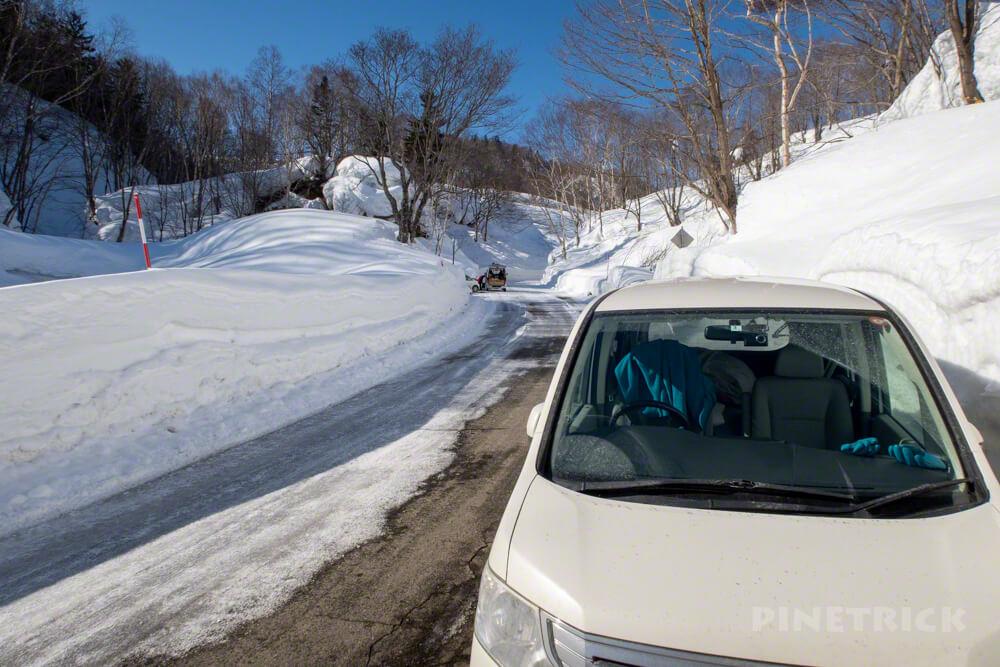 無意根山 駐車場 駐車スペース 豊羽元山コース 登山 北海道 定山渓