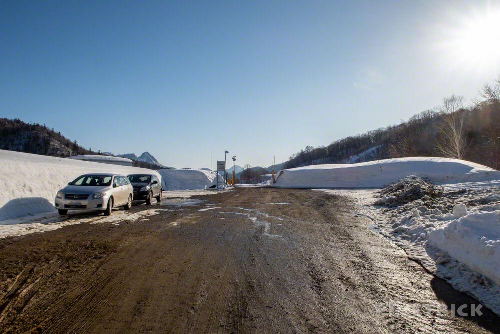 美比内山 駐車場 登山 北海道 定山渓