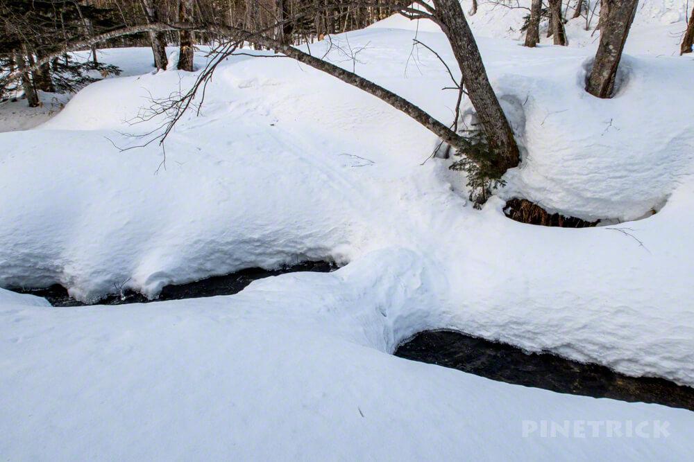 トムラウシ山 登山 北海道 スノーブリッジ スノーシュー