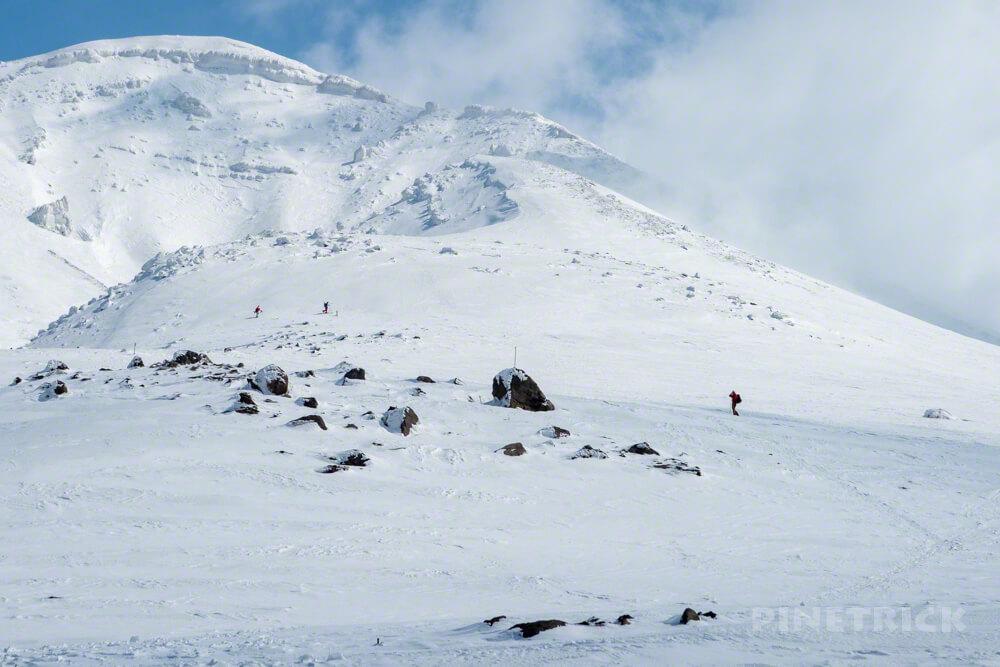 大雪山 旭岳 北海道 登山 スノーシュー スキー ボード