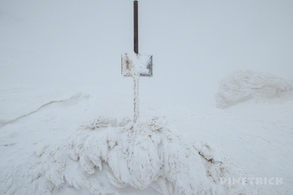 大雪山 旭岳 北海道 登山 スノーシュー ニセ金庫岩