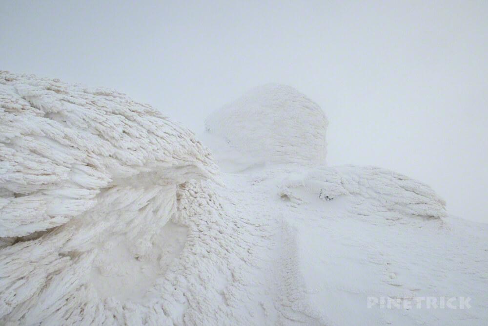 大雪山 旭岳 ニセ金庫岩 登山 北海道 視界不良
