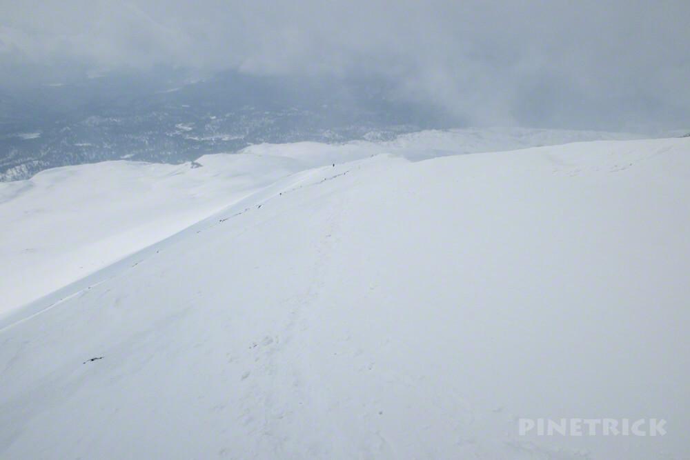 大雪山 旭岳 登山 北海道 視界不良