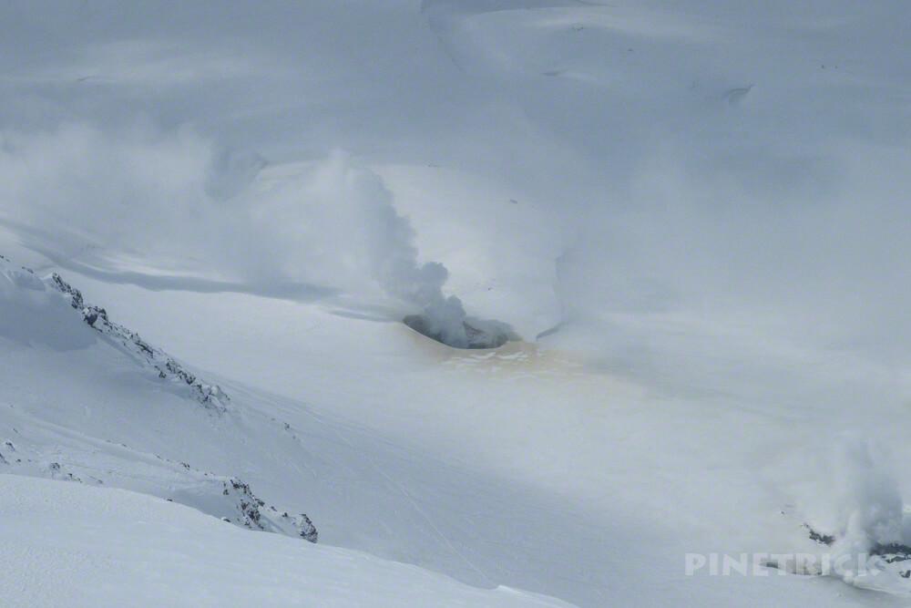 大雪山 旭岳 噴煙 硫黄臭 登山
