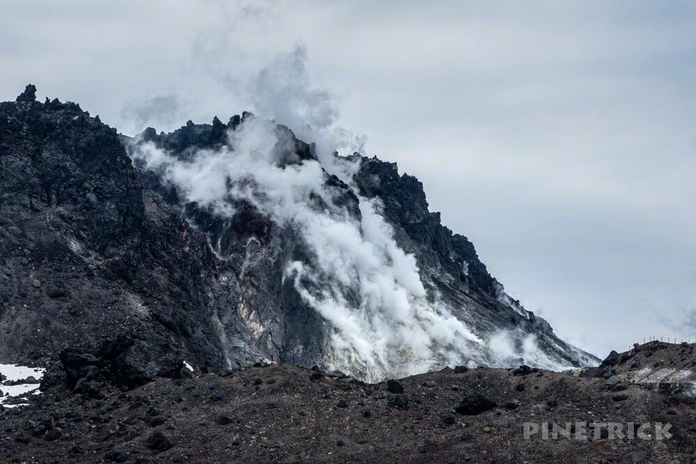 樽前山 登山 噴煙 北海道