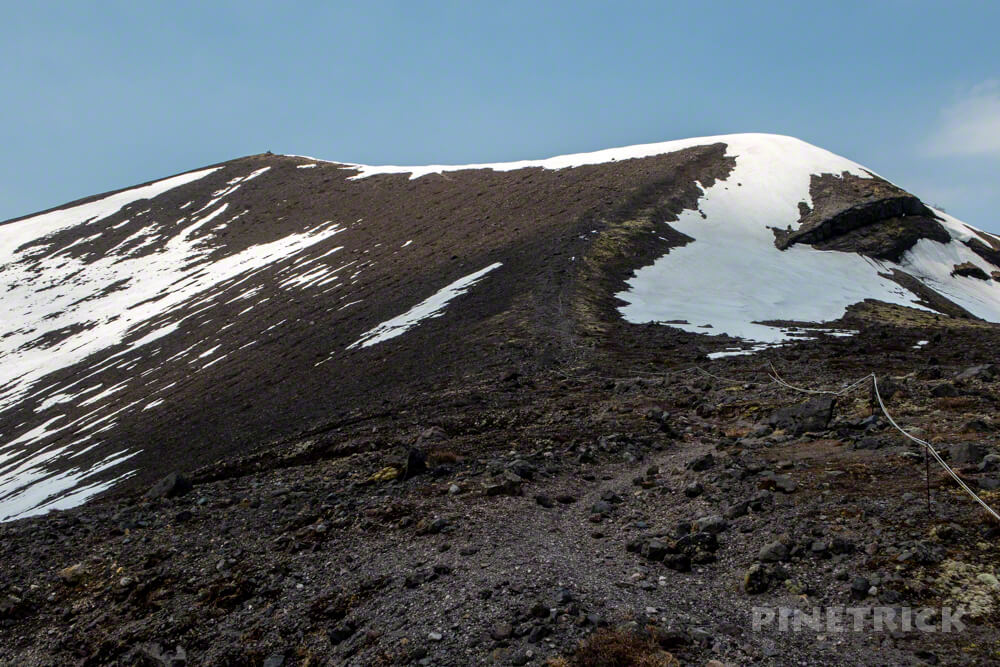 樽前山 西山 噴煙 登山 北海道