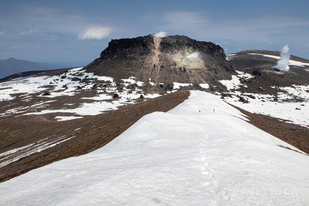 樽前山 西山 登山 溶岩ドーム 北海道