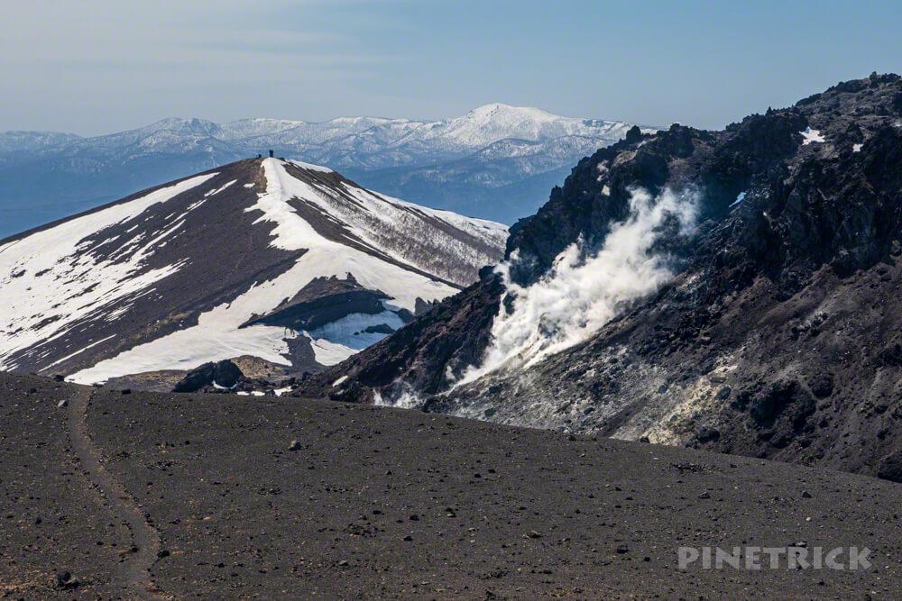 樽前山 溶岩ドーム 噴煙 西山 登山 北海道