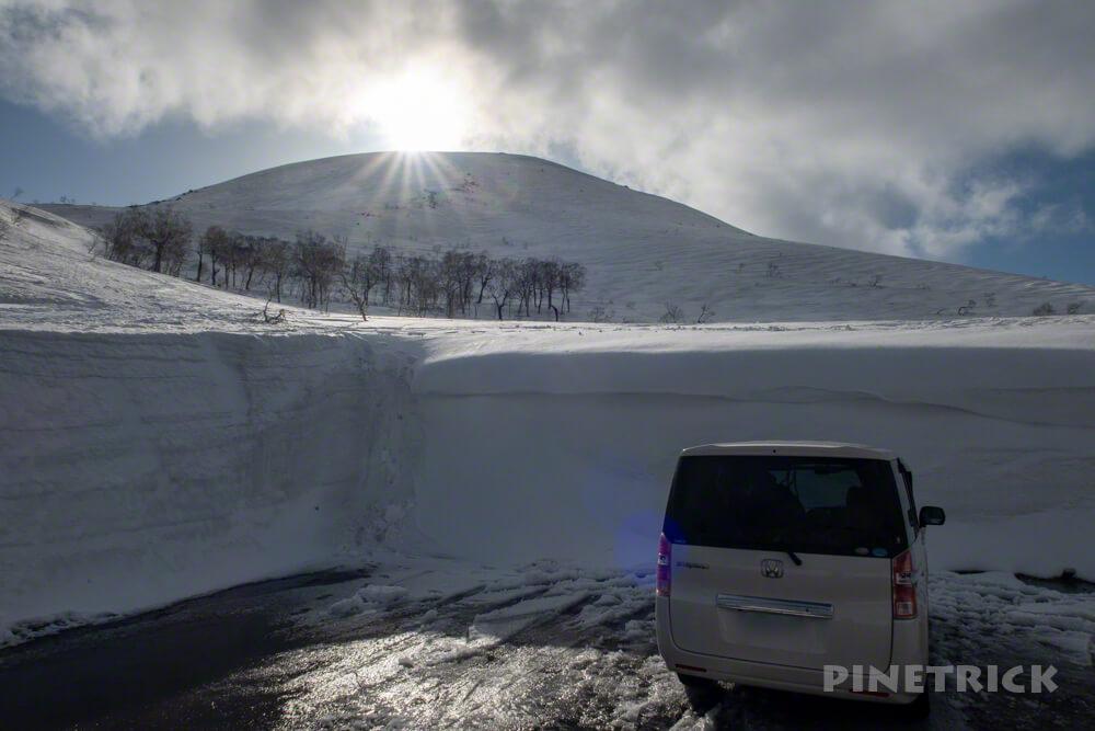 チセヌプリ 駐車場 ニセコパノラマライン 登山 北海道