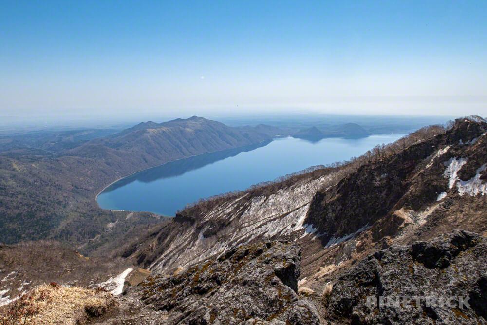 恵庭岳 登山 北海道 第二展望台 支笏湖